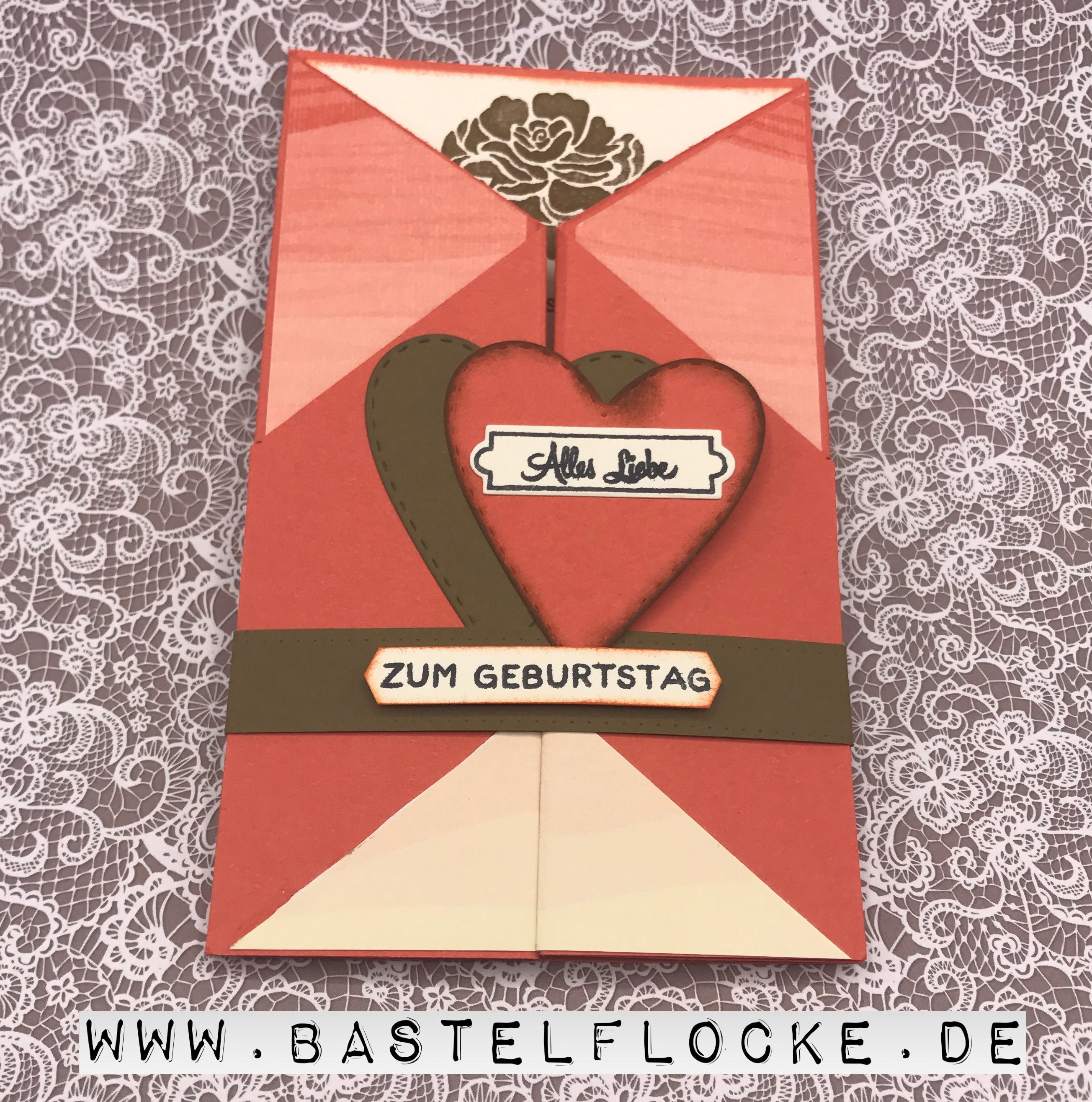 Geburtstagskarte für einen ganz besonderen Menschen | Bastelflocke