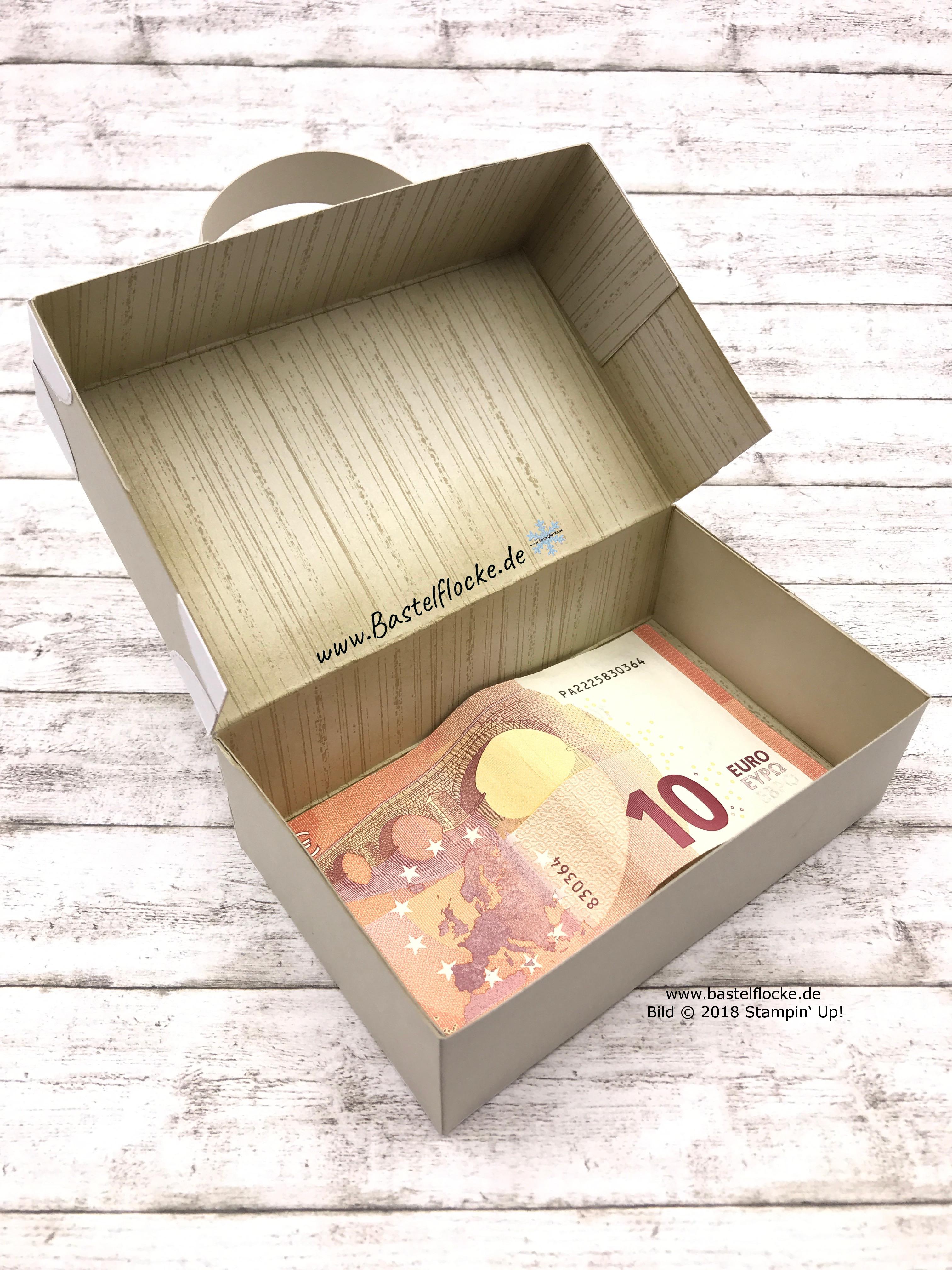 Koffer Fur Geldgeschenk Oder Mitbringsel Bastelflocke